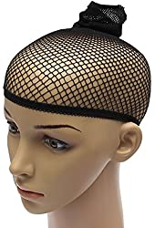 Unisex Stocking Wig Cap Snood Mesh Black
