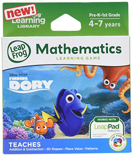 LeapFrog Disney/Pixar Finding Dory Learning Game (for LeapFrog Epic,  LeapPad Platinum, LeapPad Ultra, LeapPad2, LeapPad3)