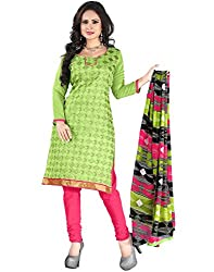Yehii Bollywood New Collection for Women party Wear Low Price Best Seller Offer Light Green Chanderi Unstitched Branded Dress Materials With Dupatta