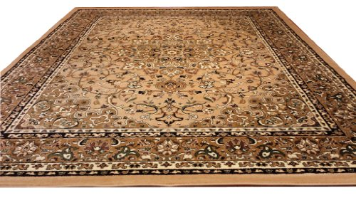 D603 Medallion Traditional Berber Beige 5x8 Actual Size 5'3x7'2 Rug