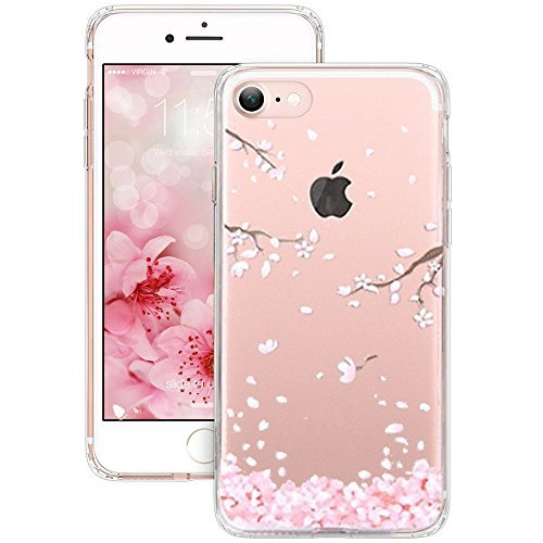 A-store iPhone 7 Case, New Arrived 4.7 inch iPhone 7 Case, 3d Cherry Leaf Falling Print Case