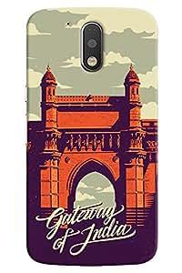 Omnam Gate Way Of India Art Printed Designer Back Cover Case For Motorola Moto G4