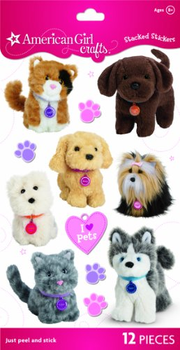 American Girl Crafts Stacked Stickers, My American Girl Pets - 1