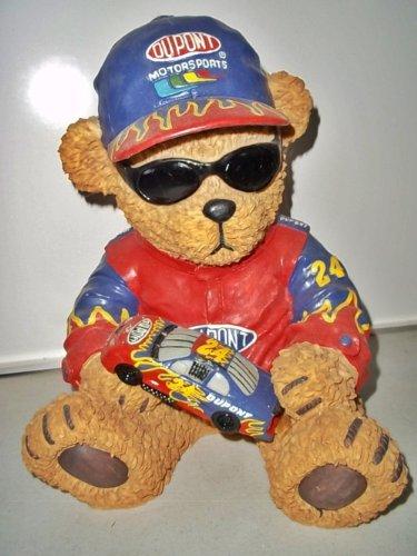 NASCAR JEFF GORDON #24 BIG TEDDY BEAR STATUE