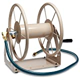 Liberty Garden Products 3-in-1 Garden Hose Reel With 200-Foot Hose Capacity 703-1-Tan