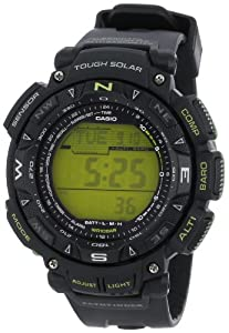 Casio Men's PAG240-1BCR Pathfinder Triple Sensor Solar Digital Watch