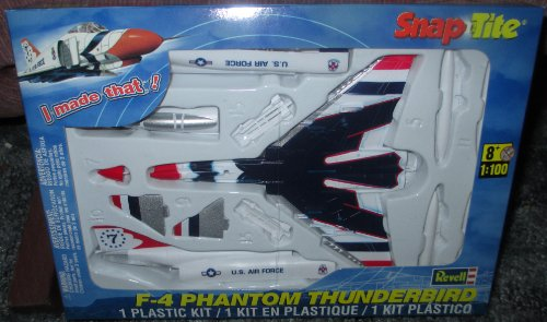 #1384 Revell Snap-Tite F-4 Phantom Thunderbird 1/100 Scale Plastic Model Kit,Needs Assembly - 1