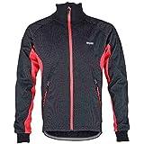 ARSUXEO Veste Homme /Manteau de vélo /Vêtements de manches longues /Coat Casual Jersey/Coupe-vent de roue de bicyclette veste de pluie Cyclisme Imperméable en laine polaire thermale veste d'hiver/automne