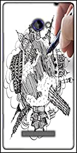 Snoogg Hand Drawing The Dream Travel Around The World Designer Protective Back Case Cover For HTC Windows Phone 8S