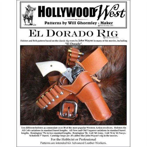 Tandy Leather El Dorado Holster & Gun Belt Pattern Pack 6015-19