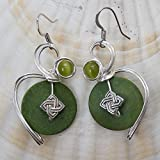 Green Celtic Knot Earrings - Irish Jewelry Gift