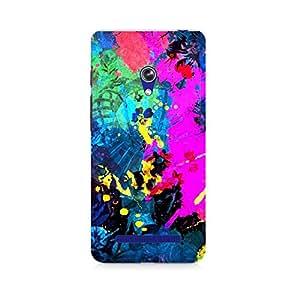 Ebby Artful Splatter Premium Printed Case For Asus Zenfone Go