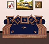 Ayushi Craft & Fashions Traditional Designer Printed 1 Diwan Set with 2 Bloster Cover and 5 Cushion Cover