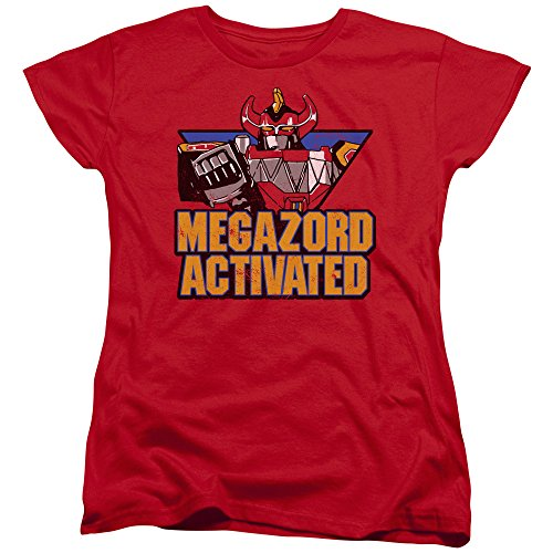 Mighty Morphin Power Rangers Megazord Activated Womens Short Sleeve Shirt