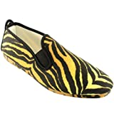 Womens Kung-Fu Flossy Hernani Slip On Tiger Print Summer Espadrille Shoes