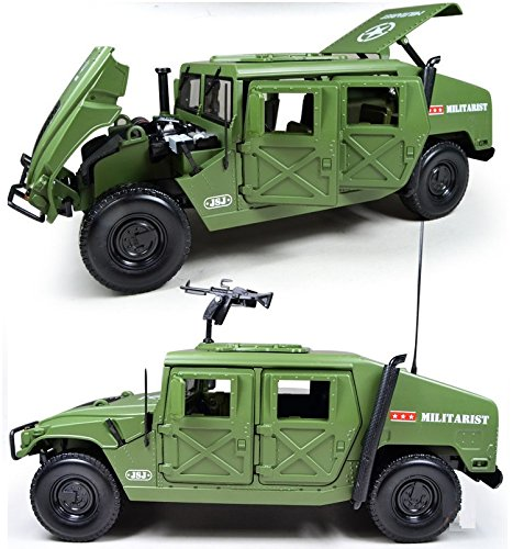 eMart Kids Children Alloy Diecast Model Toy Hummer Battlefield Military Vehicle Truck Car Simulation Scale 1:18 Gift - Green (Hummer Scale compare prices)