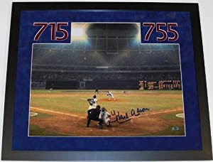 Hank Aaron Autographed Hand Signed Atlanta Braves 16x20 Photo - Home Run #715 -... by Real Deal Memorabilia