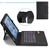 MoKo Fire HD 10 2015 Keyboard Case - Wireless Bluetooth Keyboard Cover with Auto Wake / Sleep for Amazon Kindle Fire HD 10 Inch Display Tablet (2015 Release Only), BLACK