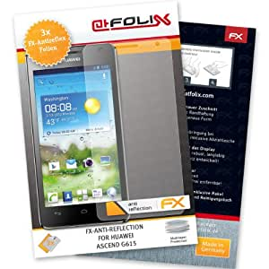 atFoliX Displayschutzfolie Huawei Ascend G615 (3 Stück) - FX-Antireflex, antireflektierende Premium Schutzfolie