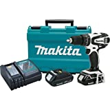 "Makita LXPH01CW 18V Cordless Lithium-Ion 1/2"" Compact Hammer Driver Drill Kit"