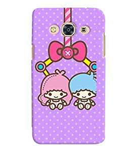 Printvisa two animated girls hanging Back Case Cover for Samsung Galaxy J3 Pro