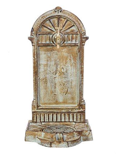 Fontaine murale sur pied - fer - style antique - vert - 11 kg/64 cm