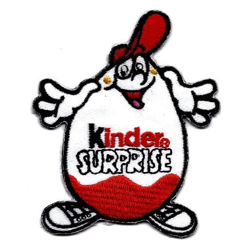 Amazon.com: Kinder Egg Kinder Surprise chocolate candy mascot applique