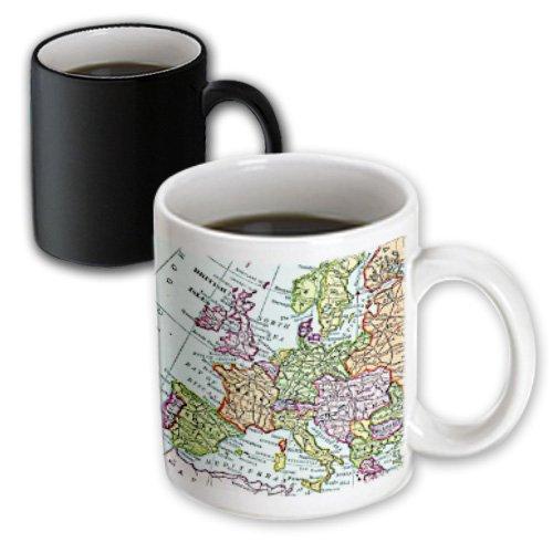 Mug_112938_3 Inspirationzstore Vintage Maps - Vintage European Map Of Western Europe - Britain Uk France Spain Italy Etc - Retro Geography Travel - Mugs - 11Oz Magic Transforming Mug