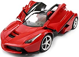 Catterpillar Remote Controlled Ferrari With Opening Doors includes Rechargeable Batteries & Charger (Red)