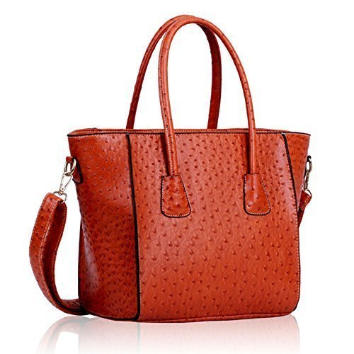 Womens HandBags Designer Celebrity Style Faux Leather Shoulder Ostrich Tote Bags