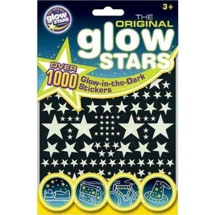 The Original Glowstars - Glow-in-the-Dark calcomanías forma de estrellas de 1000 Piezas - 3 paquetes