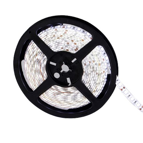 Ggl Superbright 5050 Smd 300-Led White Flexible Pcb Led Strip Light Flash Lamp Ribbon With Self-Adhesive Tape Backing 16.4Ft 5M Per Reel - Waterproof Ideal For Various Residential Industrial Commercial Decorative Lighting Applications