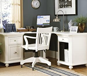 Homelegance Hanna Corner Desk In White Kitchen Home