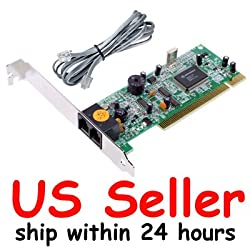 Cable N Wireless 56K PCI Internal Dial Up Voice Fax Data Modem V.92 Win 7 work with win7