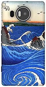 The Racoon Lean Naruto Whirlpool, Awa Province hard plastic printed back case / cover for Microsoft Lumia 950 XL