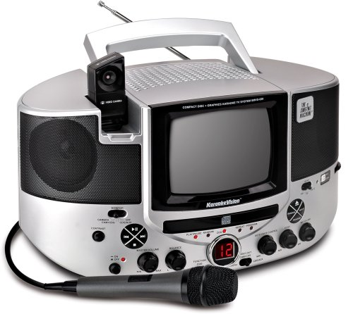 Singing Machine Smvg-620 Cd+G Karaoke System With Camera And 5.5 Tv Monitor