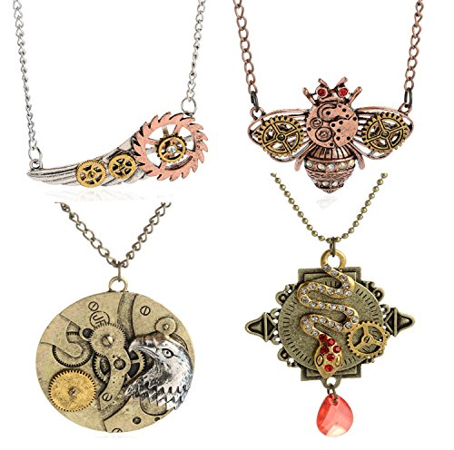 2016-Popular-Various-Styles-Vintage-Retro-Necklace-for-Gear-Steampunk-Necklace