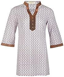Century Women's Cotton Regular Fit Kurti(#TF220,Pink)