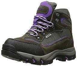 Hi-Tec Women\'s Skamania Waterproof-W Hiking Boot, Grey/Viola, 10 W US