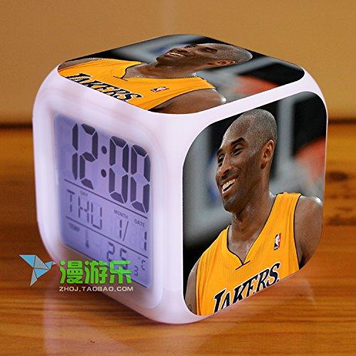 Kobe Basketball Alarm Cube Clock Electronic Backlight Digital LED (Excalibur Invicta compare prices)