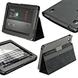 IGadgitz Black 'Portfolio' PU Leather Case Cover for Acer Iconia Tab A500 A501 10.1 Android Tablet 16gb 32gb