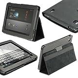 igadgitz 'Portfolio' PU Ledertasche Schwarz für Acer Aspire Iconia Tab A500 A501 10.1 Android Tablet 16gb 32gb