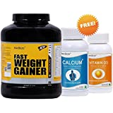 Medisys FAST WEIGHT GAINER, Choco, 3Kg+ 1 Calcium& 1 Vit. D3 Free