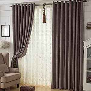 Inthehouse Solid Color Blackout Curtains Bedroom Curtains Drapes Grommet Top 42