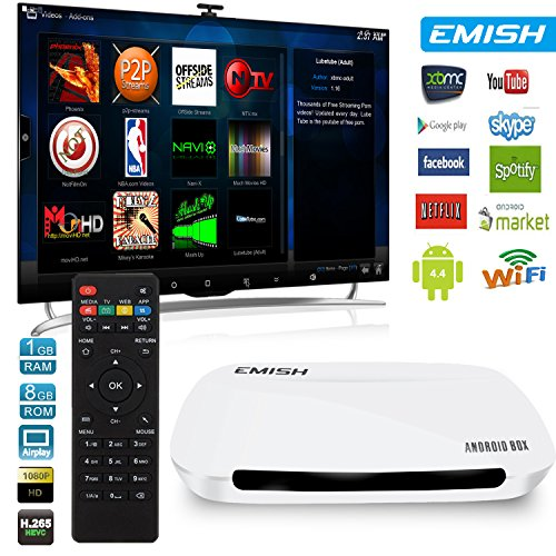 Find Discount Emish TV Box, Android Smart TV Box, Game Player with Kodi, Xbmc, Wifi Functions, Inter...