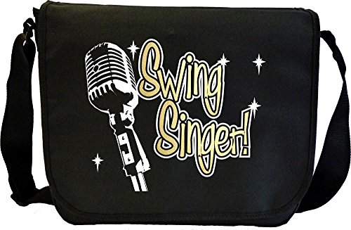 Vocalist Singing Swing Singer - Sheet Music Document Bag Borsa Spartiti MusicaliTee