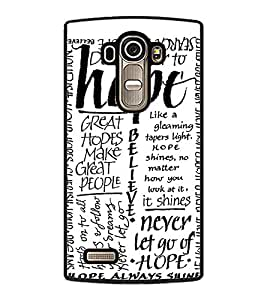 Fuson Premium Hope Metal Printed with Hard Plastic Back Case Cover for LG G4