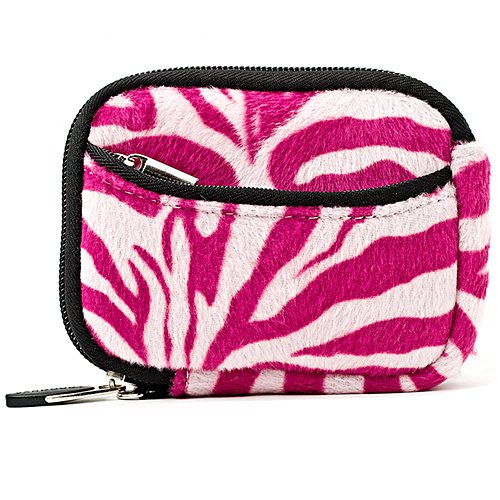 Vangoddy Mini Glove Sleeve Pouch Case For Canon Powershot Elph 140 Is, 135, 340 Hs, 115 Is, 130 Is, 520 Hs, 310 Hs, 510 Hs, 100 Hs, 300 Hs, 500 Hs Digital Cameras (Pink Zebra)