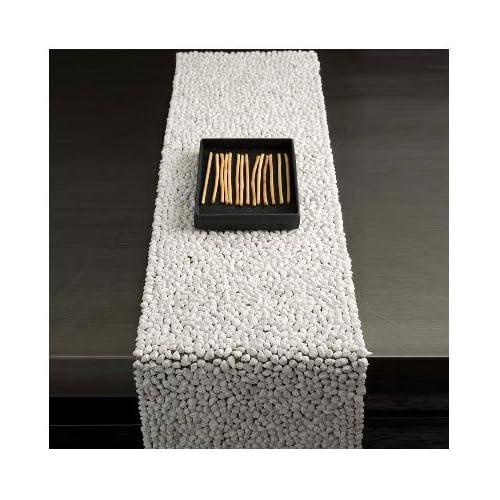 Amazon.com - Beach Stone White Table Runner - MOTIF Modern Living -