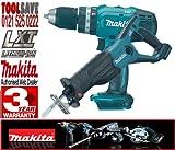 Makita BJR181Z + BHP453Z BHP453Z 18 V LXT Li-Ion Combi Hammer Drill Plus BJR181Z 18 V LXT Li-Ion Reciprocating Saw